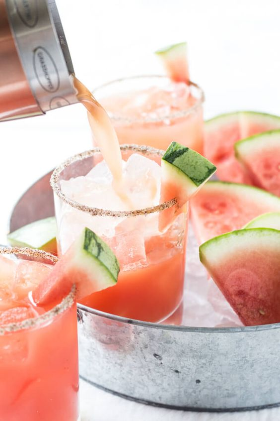 Salted Watermelon Margaritas