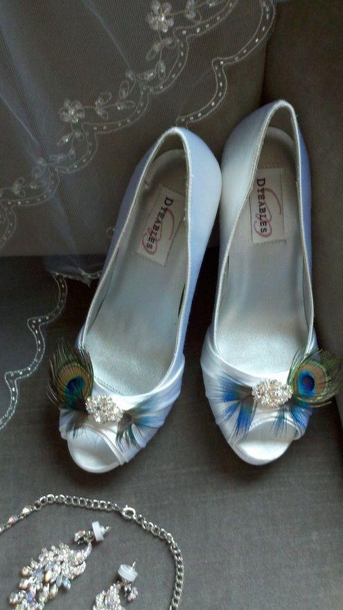 Peacock Wedding Shoes. SO pretty