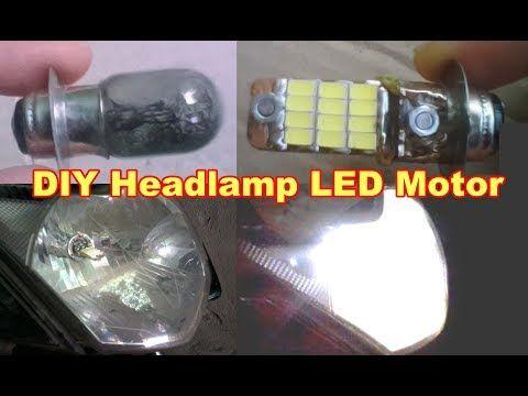 Cara Membuat Led Motor Lampu Depan Pakai Bekas Bohlam Motor Youtube Led Bohlam Lampu