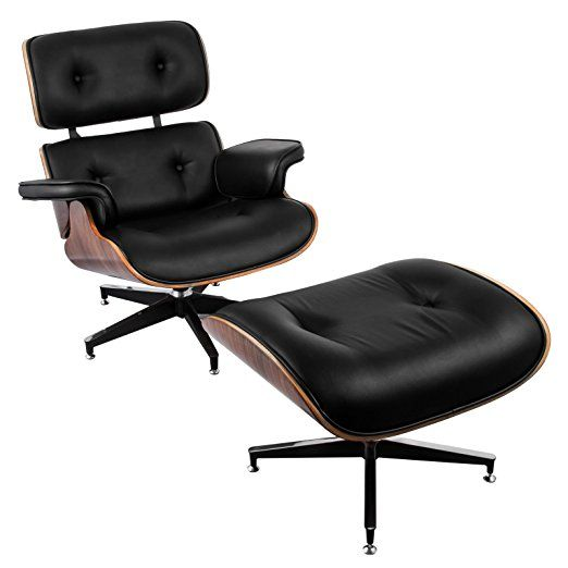 Vevor Lounge Chair And Ottoman Mid Century Modern Classic Design Replica Style Lounge Chair Walnut Veneer Mol Chair And Ottoman Eames Lounge Chair Lounge Chair