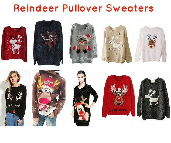 Reindeer Christmas Sweaters for Women at Pink Queen
