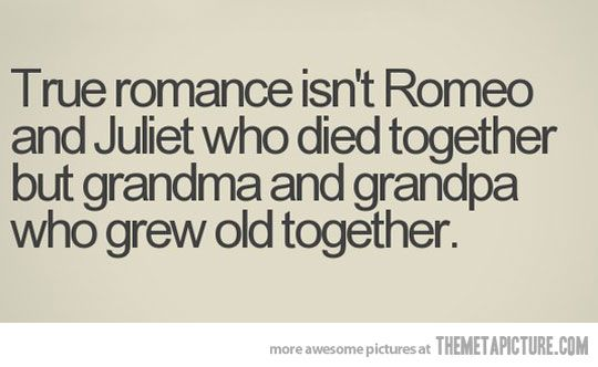 This is my Grandma and Grandpa exactly! I've always dreamt to one day have a love like theirs cuz theirs is true love. <3
