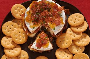 ... brie with prosciutto and fig jam on RITZ crackers is a little sweet, a
