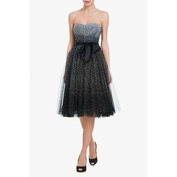 RAE STRAPLESS A-LINE COCKTAIL DRESS