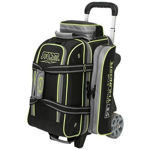 Storm Bowling Products 2 Ball Rolling Thunder Bowling Bag Black Gray Lime Best Offer Outdoorfull Com Storm Bowling Bowling Shoes Bowling Bags
