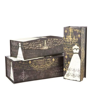 Another great find on #zulily! French Couture Rectangle Tab Box Set #zulilyfinds