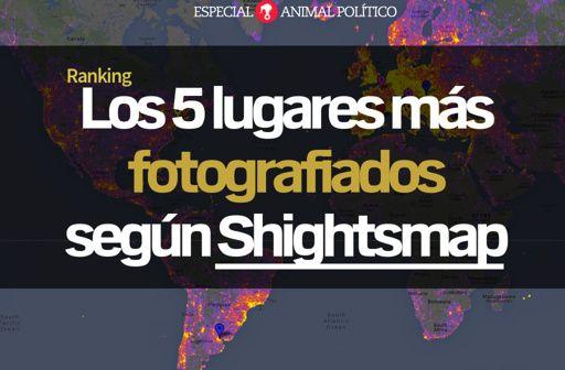 Page 1 from 'Lugares mas fotografiados' by Animal Politico