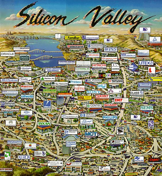 Silicon-Valley-Tech-Companies-Map: