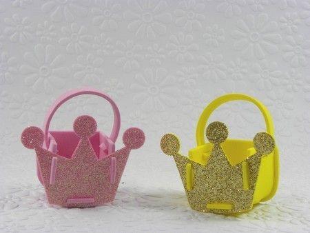 24 cesta coroa glitter de EVA Ursinha Princesa-Cortes www.petilola.com.br