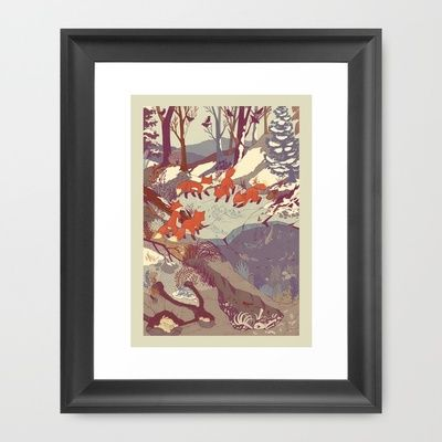Want this!!     Fisher Fox Framed Art Print by Teagan White
