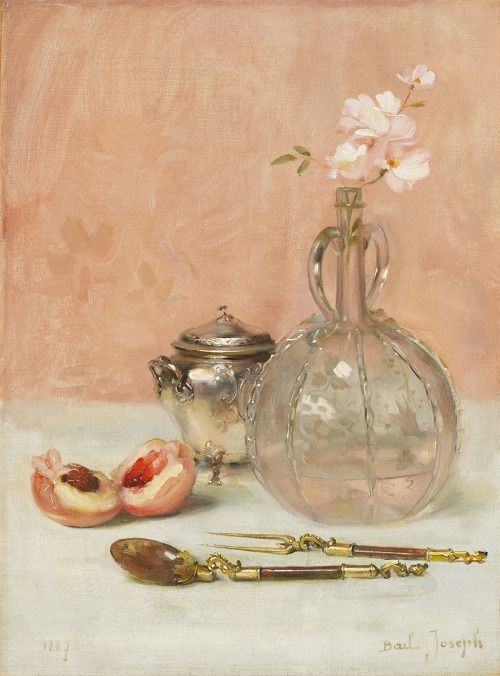 art-and-things-of-beauty: Joseph Bail (French, 1862-1921) - Still life, oil on canvas, 33 x 24,5 cm. 1887.: