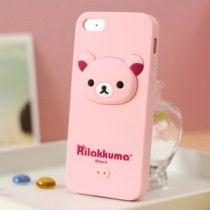 Rilakkuma Silicone iphone 5 case 3D Head Pink