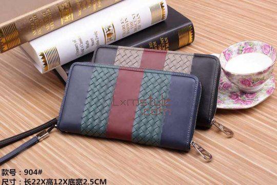 Bottega Veneta Intrecciato Nappa Zippy Wallet 904#