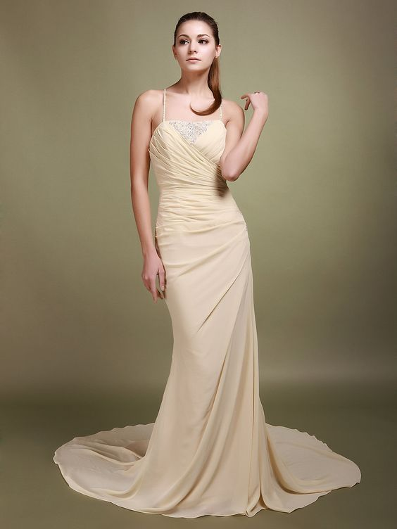 Cinched Chiffon Mermaid Wedding Dress  Read More:     http://weddingsred.com/index.php?r=cinched-chiffon-mermaid-wedding-dress-chwdno.html