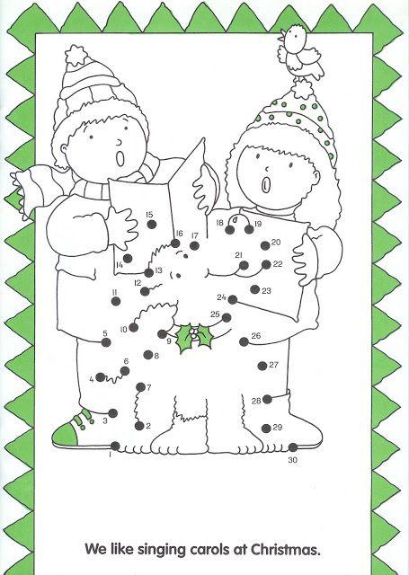 zingen in de winter, dot to dot, free printable