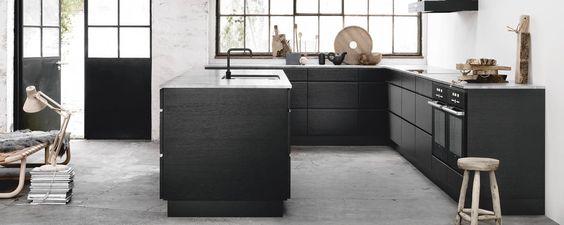 Stijlvolle keuken in Scandinavische design. Mooie combi tussen een ...
