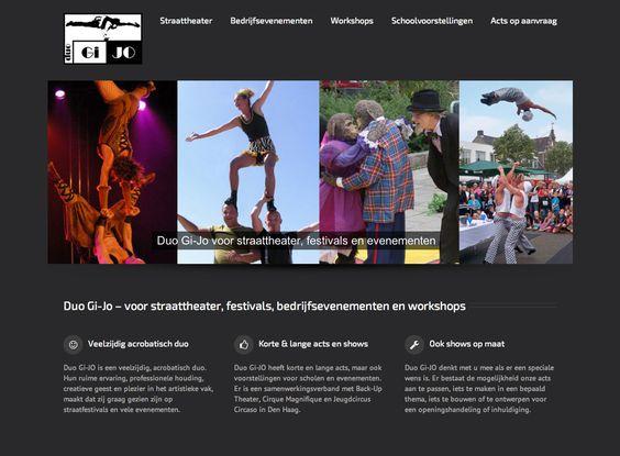 Duo Gi-Jo - maak een website met veel foto's en sliders van ons artiestenaanbod