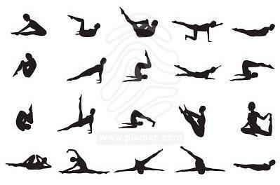Postures Pilates   - Ecole de danse Le Mans (72) - Atelier de Danse Anne Chazaud - Cours de danse (classique, jazz, danse de salon, fitness, pilates, danse africaine, ...)