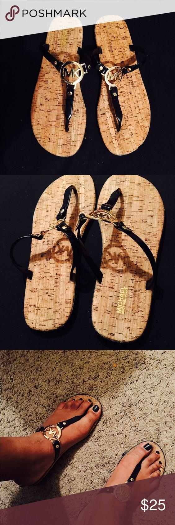 Black mk sandals - Black Mk Sandals 39