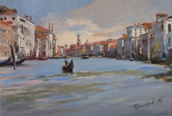 Venice by Bogdan Goloyad  24x35 cm oil on by BogdanGoloyadArt