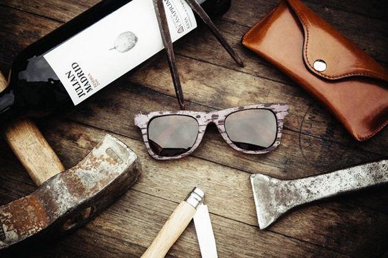 Fabrican gafas de sol con madera de vino: