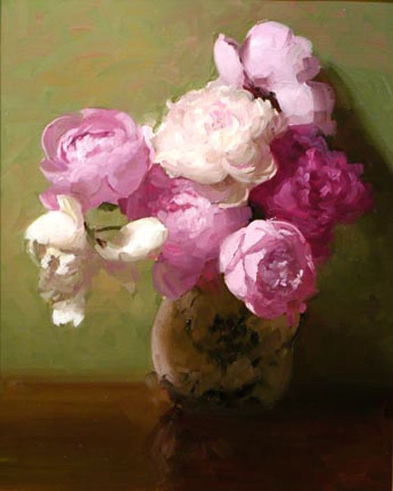 "Dennis Perrin ""Bouquet of Peonies"":"