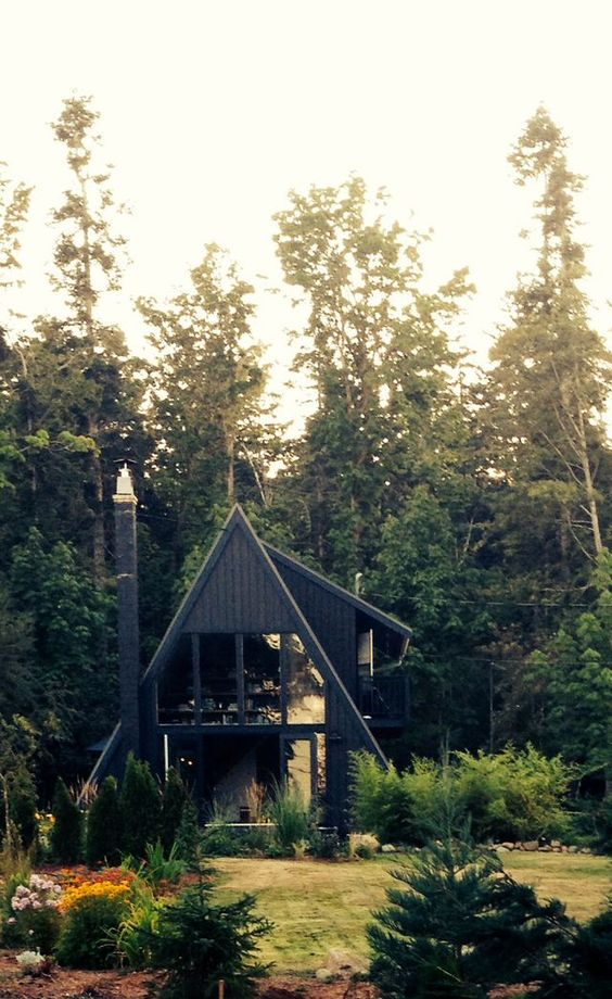 A Frame Cabin Contemporary House Plan 90603: 87f7ebbe99259da4835994f19d4c701f.jpg 640×1.045 Píxeles