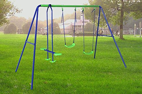 Top 10 Best Metal Swing Sets For Kids And Adults Reviews In 2019 Backyard Swing Sets Swing Sets For Kids Metal Swing Sets