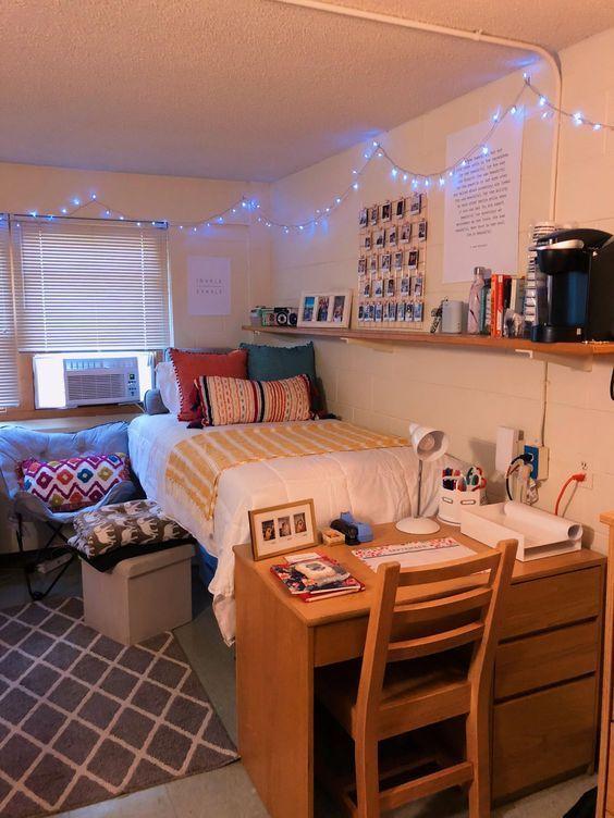 Tips For Original Decoration For Student Rooms Decoration Original Rooms Student Tips En 2020 Idees Deco Chambre D Etudiant Chambre Etudiant Chambre Design