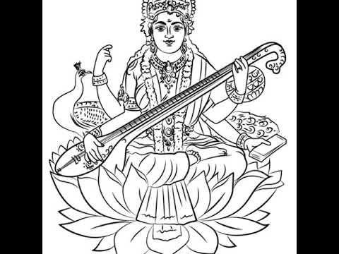 Image Result For Outline Images Of Ganapathi Saraswathi Lakshmi Outline Images Vector Free Free Vector Images