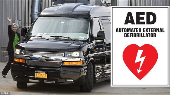 Hillary Clinton's Campaign Van Fitted With Rear Napping Bed & Automated External Defibrillator (AED) (9/6/16)