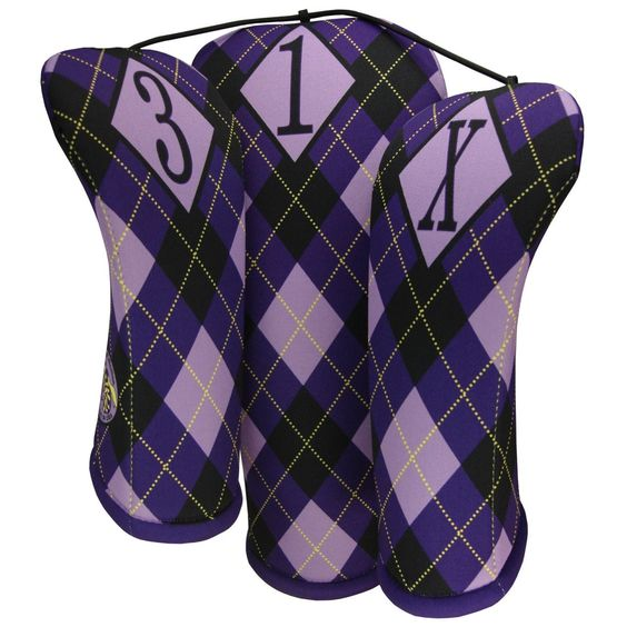 SlamGlam - BeeJo's Golf  Regal Golf Head Covers.  Stretchable LucoPrene is durable, machine washable as well as fade resistant. LucoPrenes vibrant colors will withstand the harshest of conditions.