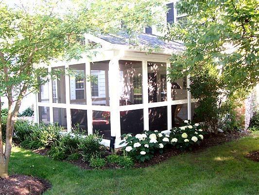 Nice planting around porch.
