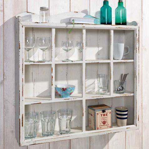 Wandschrank  - küchenschrank mit glastüren