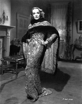 "Travis Banton design; Marlene Dietrich ""Angel"", in 1937"