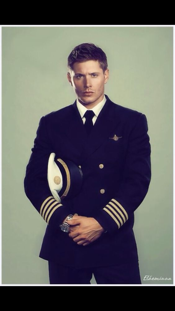 Dean in uniform.  Fanart