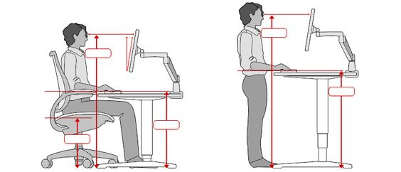 Ergonomische Schreibtischhohe Ergonomic Office Ergonomic Desk