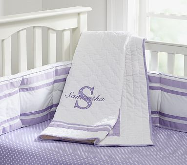 I love the Harper with Letter Appliqué Nursery Bedding on potterybarnkids.com
