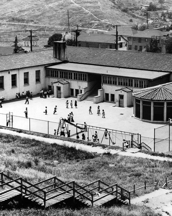 The Ravine Estate House: Children Play Outside The Palo Verde Elementary School In
