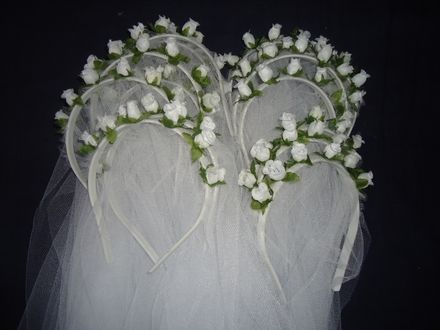 Lembrancinhas para Casamento-Mini Véu De Noiva -20 Unid (tiaras) - Sorocaba