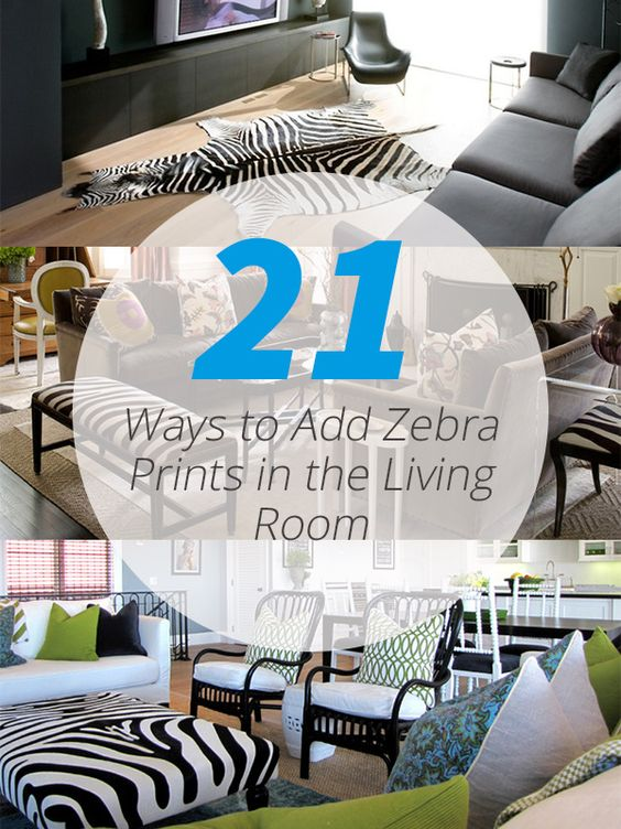 Zebra print zebras and living rooms on pinterest for Living room decorating ideas zebra print