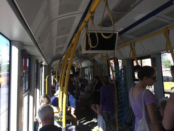 Внутри польского трамвая PESA