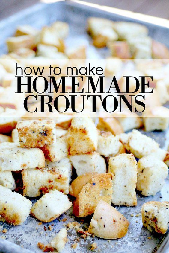 Homemade Croutons | Recipe | Homemade, Homemade croutons and How to ...