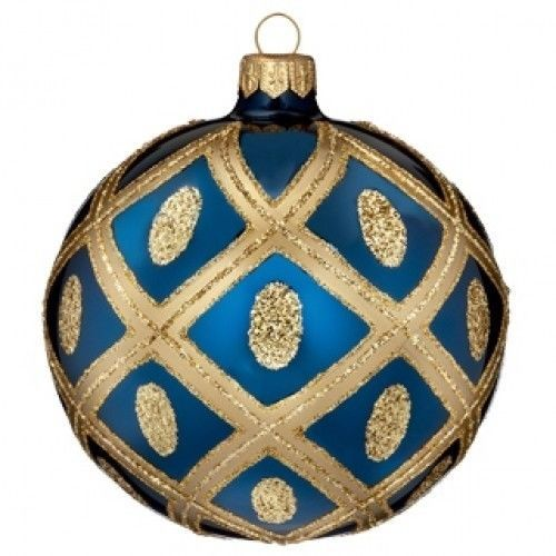 "Waterford Holiday Heirlooms 4"" Sapphire Ball Ornament 2013 Opulence New in Box 