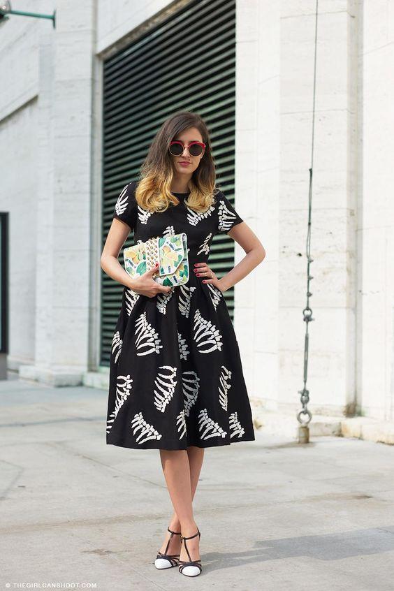 Joujou Villeroy: YMC Bone Print Dress