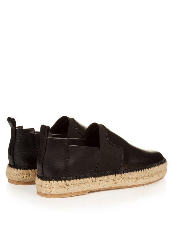 Elastic-panel leather espadrilles | Balenciaga | MATCHESFASHION.COM
