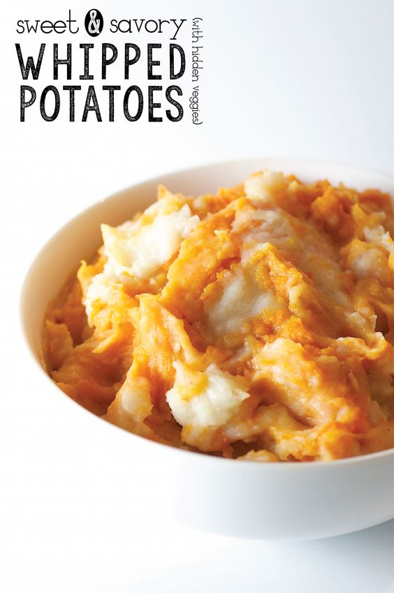 Sweet and Savory Whipped Potatoes (with hidden veggies)