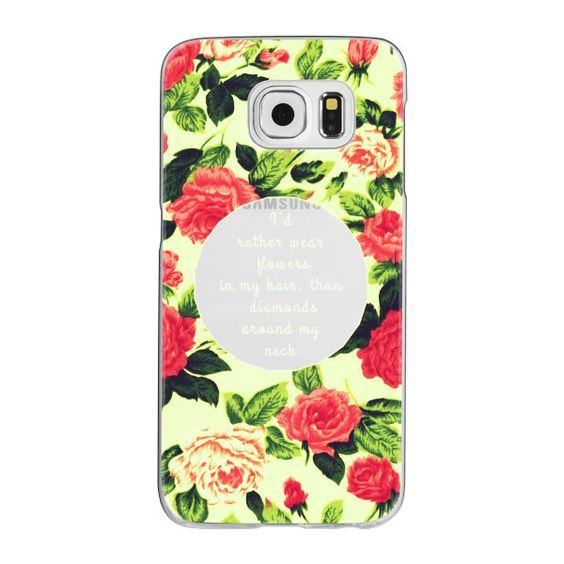 """Samsung Galaxy / LG / HTC / Nexus Phone Case - """"...Flowers in My Hair""""... (€35) ❤ liked on Polyvore featuring accessories, tech accessories and android case"""
