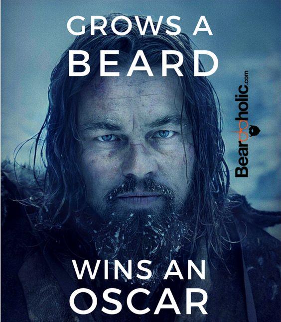 Grows A Beard - Wins An Oscar Funny Beard Memes From Beardoholic.com