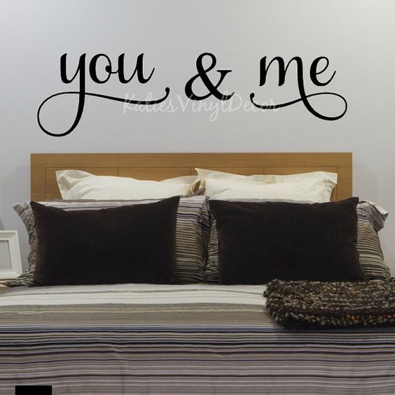 Wall Decoration Above Bed : Bed wall you and me decals on